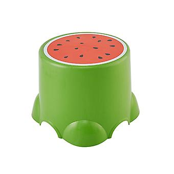 Cute Low Stool Creative Fruit Pattern Thickened Children Chairs Footstool Bathroom Bath Chair Living Room Shoe Stool