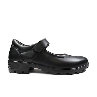 Ricosta Nora 7226900-090 Leather Girls Rip Tape Mary Jane School Shoes
