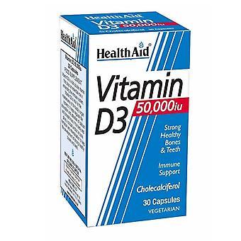 HealthAid D3-vitamiini 50 000iu Kapselit 30 (801223)