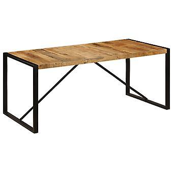 vidaXL غرفة الطعام الجدول الخام المانجو الخشب الصلبة 180 سم