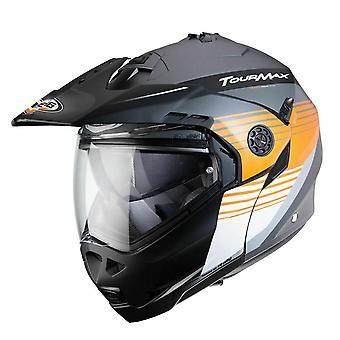 Caberg Tourmax Titan Full Face Motorcykel Hjälm Orange Matt Gun/Orange/Vit