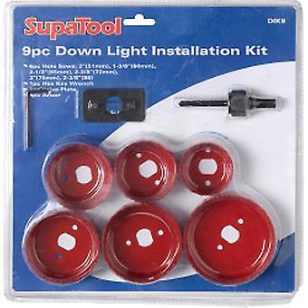 SupaTool levilágít fény telepítési készlet 9 db