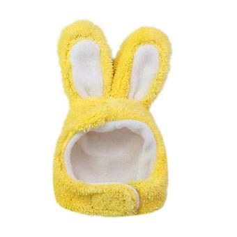 Cute Costume Bunny Rabbit Hat with Ears for Cats & Small Dogs Party Costume Halloween Headwear