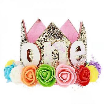 Baby prinses tiara kroon, baby verjaardag hoed (set5)