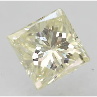 Sertifioitu 0,41 Karat J VVS2 Princess Enhanced Natural Diamond 4.24x4.21mm 2VG