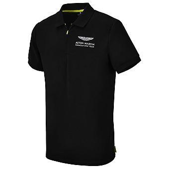 2021 Aston Martin F1 Official Lifestyle Polo Shirt (Black)