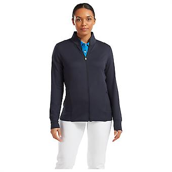 Footjoy Womens Full Zip Mid Sweater Jumper Long Sleeve Pullover Top