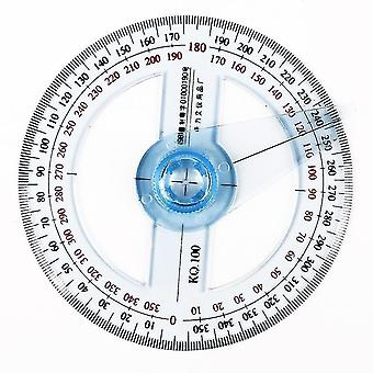 Protractors circular plastic pointer protractor rulers angle finder for student stationery sm158532
