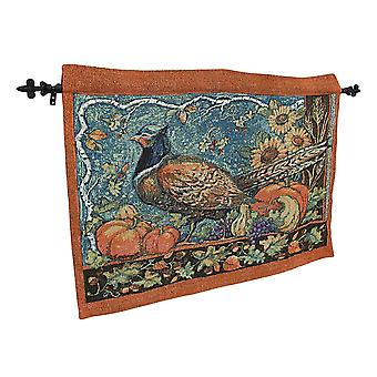 Susan Winget Harvest Pheasant Wall Hanging with Rod