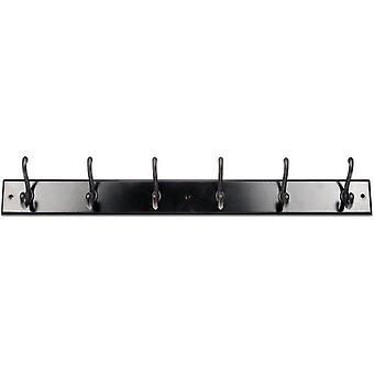 "Mainstays, Hook Board, 27"" Espresso Board, 6 Oil-Rubbed Bronze Hooks, 45 lb Working Capacity"