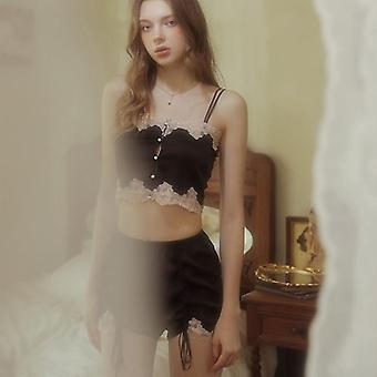Ice silk  two-piece home service suit nightdress