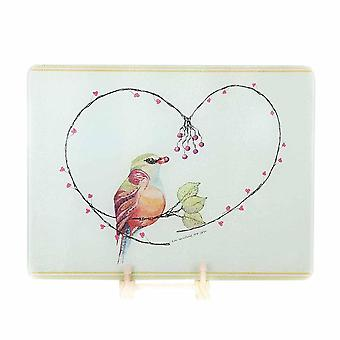 Rectangle Tempered Glass Cutting Board Chopping Block Creative Rough Surface
