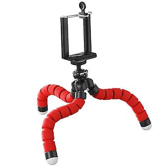 Flexibel selfie stativhållare för telefoner och kameror (Röd)