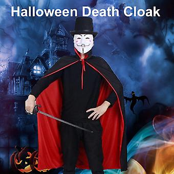 מסיבת נשף מסכות ליל כל הקדושים צדדים כפולים מוות גלימה Cosplay מכשפה צווארון אביזרים