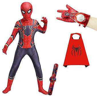 Spiderman Tights For Children And Adults, With Launcher Watch And Cloak, Halloween Costumes
