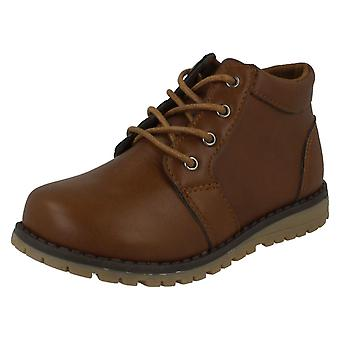 Boys JCDees Trendy Lace Up Ankle Boots N2042