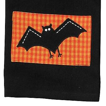 Appliqued Halloween Spooky Bat Kitchen Pantry Dish Towel