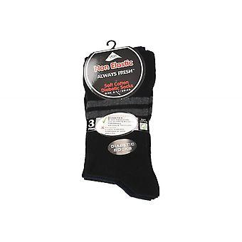 Skarpety męskie elastyczne opakowania miękkie bawełniane Blend elastyczne cukrzycowej