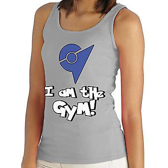 Pokemon Go ik ben de sportschool blauw vrouwen Vest
