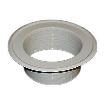 Métalliques de Ventilation aspirante Pipe plaque murale Spigot blanc 80-200mm diamètre