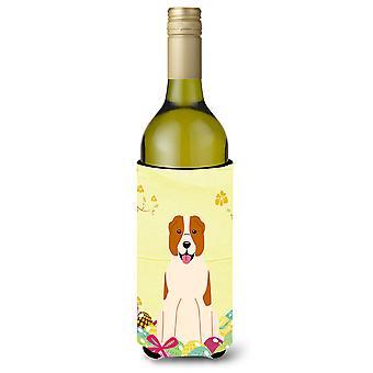 Easter Eggs Central Asian Shepherd Dog Wine Bottle Beverge Insulator Hugger