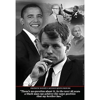 Barack Obama - RFK prophetisches Zitat 1968 Poster Print von Tonya Jones (13 x 19)