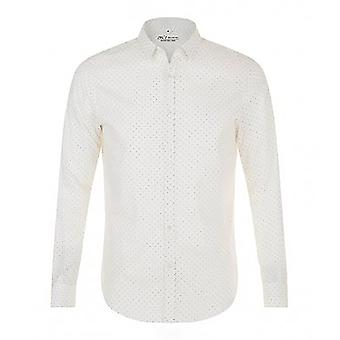SOLS Mens Becker Polka Dot Long Sleeve Poplin Shirt