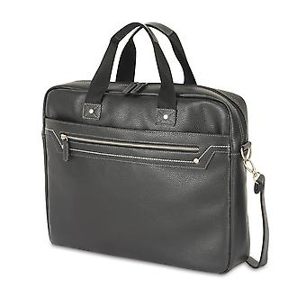 Shugon Munich Faux Leather Briefcase Bag