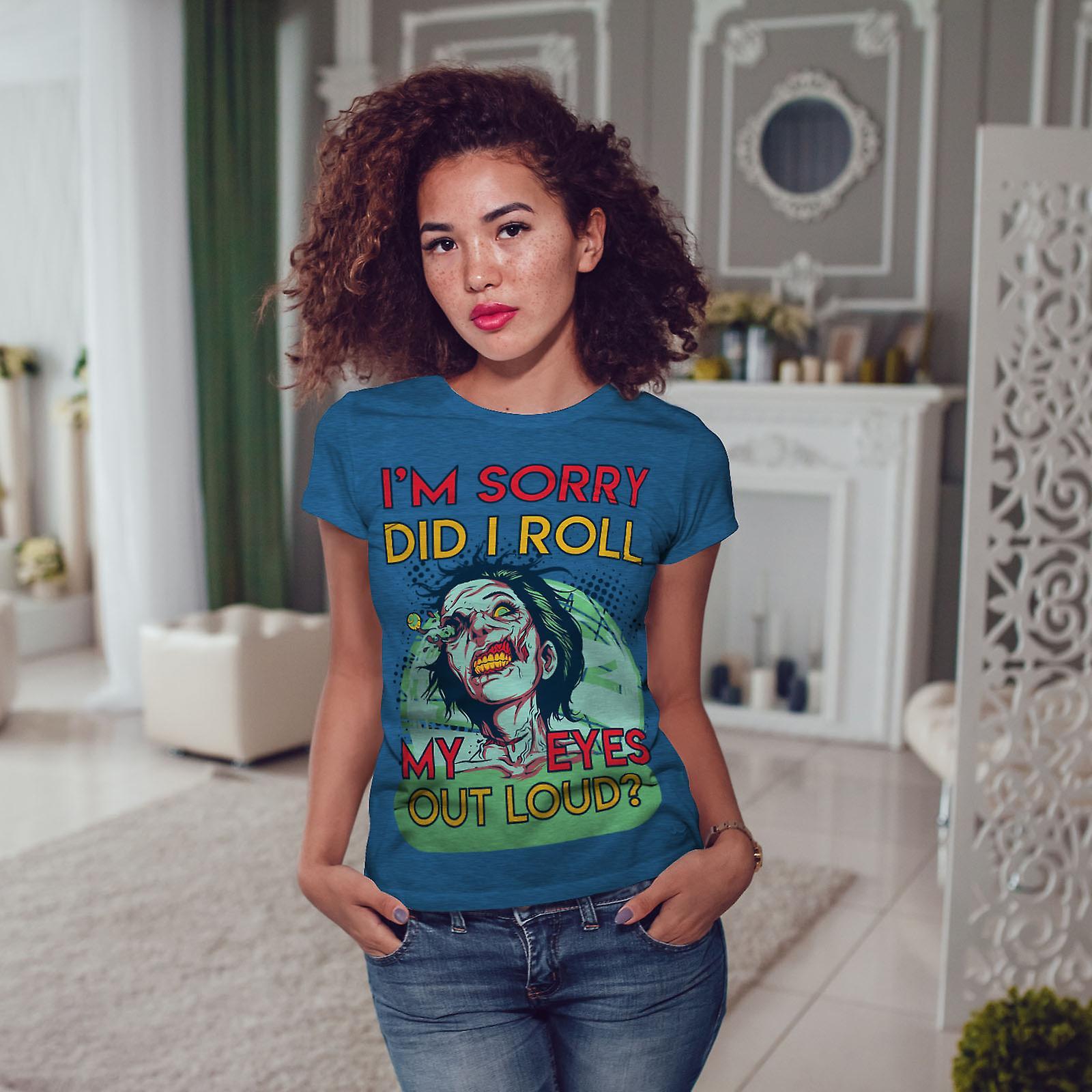 Si je roulaient mes yeux Royal BlueT-chemise de femme | Wellcoda