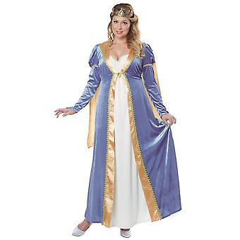 Elegant Empress Renaissance Medieval Queen Princess Womens Costume Plus