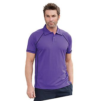 Finden & Hales Mens Piped Performance Cool Plus Polo Shirt