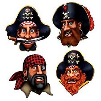Pirate Crew Ausschnitte - 4 pro Packung