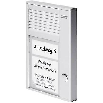 Auerswald 90634 Door intercom Corded Complete kit Detached Silver