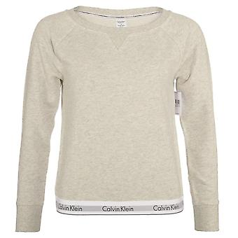 Calvin Klein Women Calvin Klein Women Modern Cotton Sweatshirt, Snow Heather - Neon Neps, Large