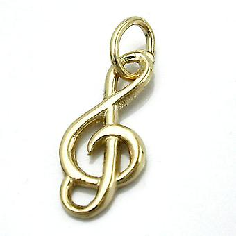 16x7mm skinnende clef anheng 14Kt gull