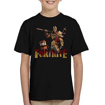 Fortnite Wukong Haut Kinder T-Shirt