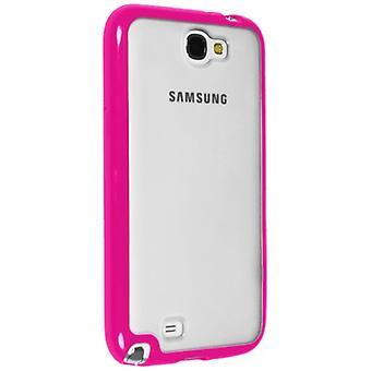 Sprint selkeä Hybrigel kotelo Samsung Galaxy Huomautus II (selkeä / pinkki)