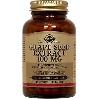 Solgar Grape Seed Extract 100 mg plantaardige Capsules 60 Ct