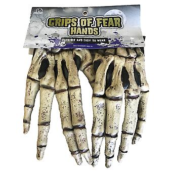 Fear Zombie Walking Dead Monster Grim Reaper Horror Mens Costume Hands Gloves