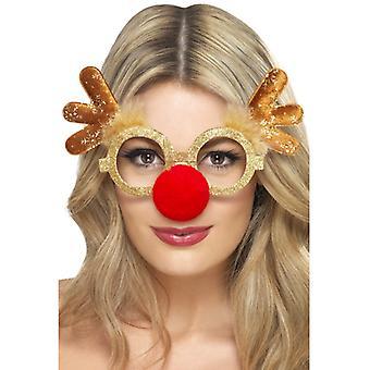 Renifer okulary Boże Narodzenie renifera Rudolfa okulary z nosa i poroża