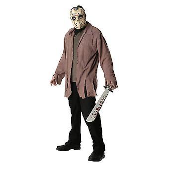 Traje de Jason Voorhees viernes 13 terror Halloween asesino para hombre