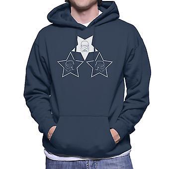 Oprindelige Stormtrooper hjelm Line Art stjerner Sweatshirt med hætte til mænd