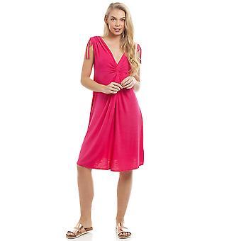 Camille EX High-street Ladies Pink Knee Length Beach Dress