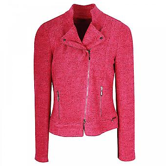 Marie Mero Fuchsia Fitted Long Sleeve Jacket