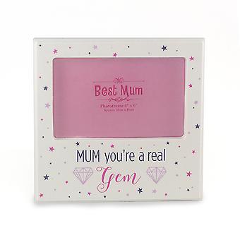Mãe, você é um verdadeira joia branca foto Frame do dia das mães, presentes de aniversário TRIXES