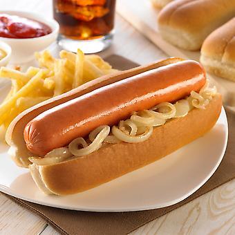 Americana Frozen Top Sliced Hot Dog Rolls 16cm
