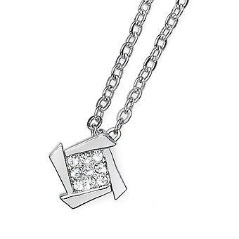 Oliver Weber Pendant Dense Rhodium Crystal