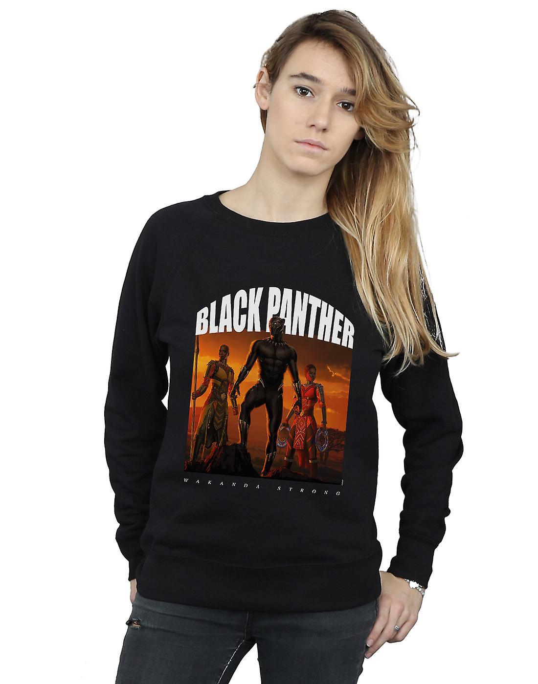 Marvel Women's Black Panther Wakanda Strong Sweatshirt