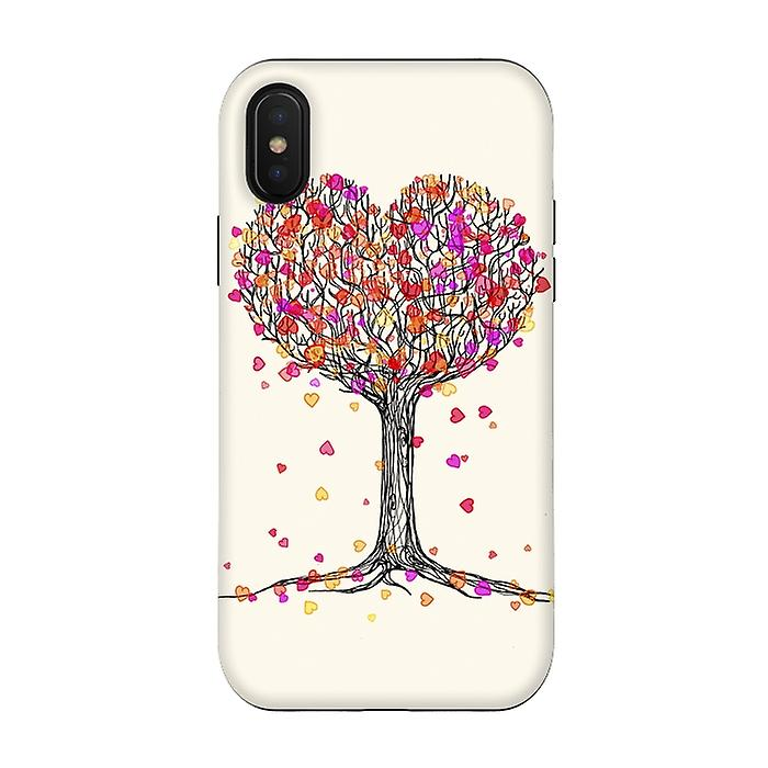 ArtsCase Designers Cases LOVE IN THE FALL HEART TREE ILLUSTRATION for Tough iPhone Xs / X