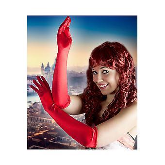 Gloves  Long gloves red